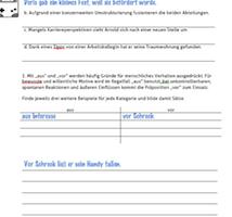 """Arbeitsblatt zum Thema """"Gründe angeben"""""""